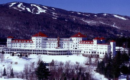 The Omni Mt. Washington Resort, Bretton Woods, New Hampshire.  Breathtaking views, historic and very romantic.  I spent the first part of my Honeymoon here!  Loved it!!
