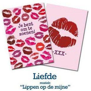 """Kaart met muziek 09 Liefde """"Lippen op de mijne""""   Valentijn   kaartfanaat"""