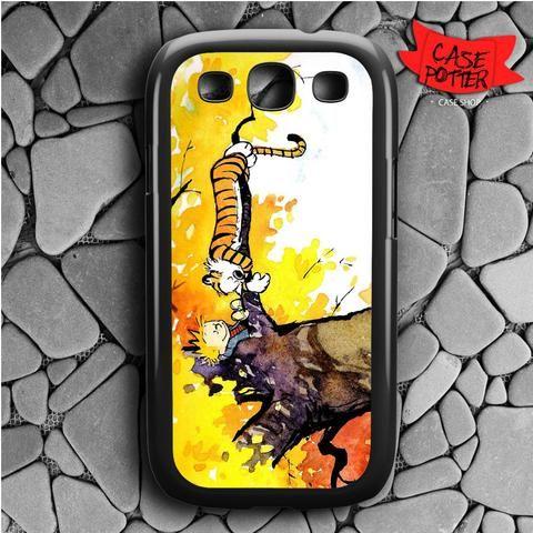 Calvin And Hobbes Samsung Galaxy S3 Black Case