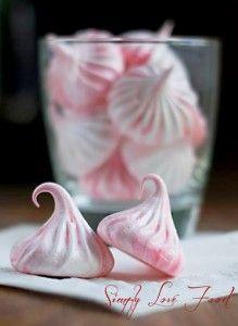 Delicious meringue kisses