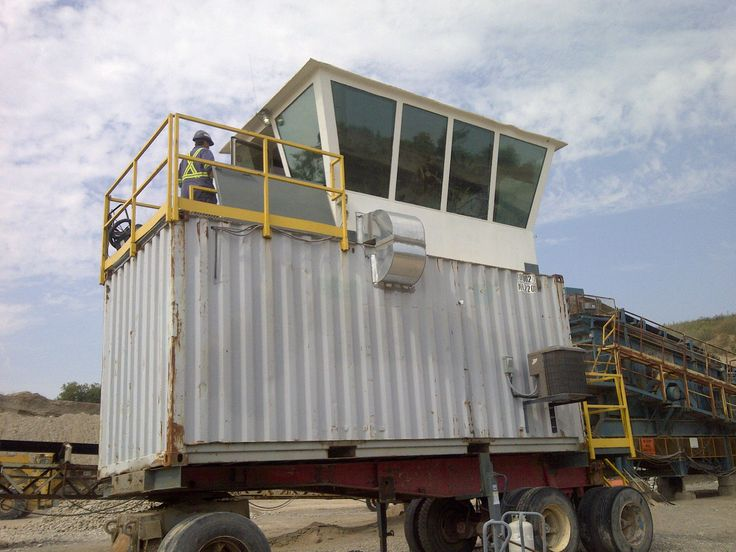 The poor man that works in this construction pit Control Tower was needlessly melting even with the AC working. We provided the Grey/Silver open roller Sun Shades (no valance cassette). These shades provided relief  by blocking 82% of Sun's heat, 91% of glare and 99% of UV light.
