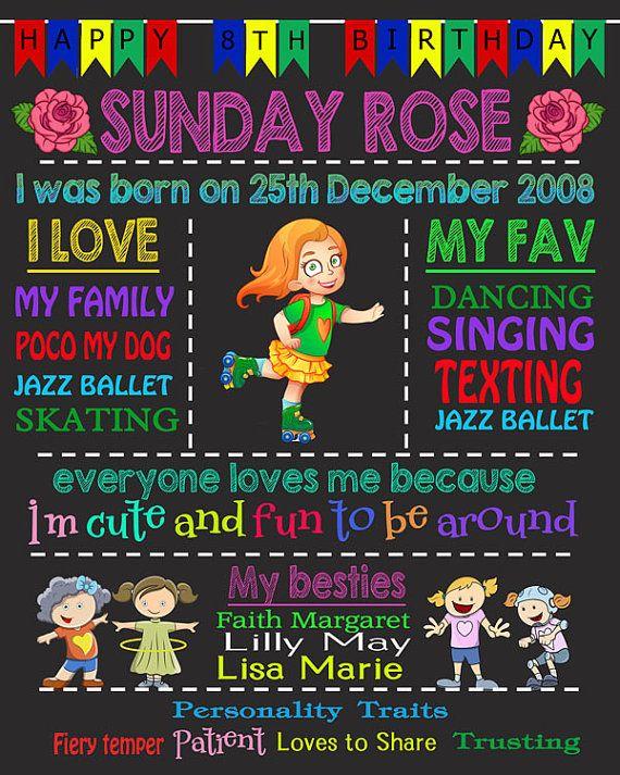 Sunday Rose  Digital Download Chalkboard  by Beauladigitals