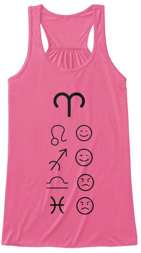 Aries Love Tanks Light Neon Pink T-Shirt Front