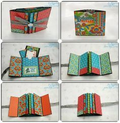 tutorial mini album - have not seen one like this before. Really cute. Is foreign but she has a really great pictorial with some instructions that make it easier to understand what she has done.