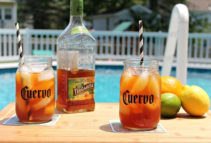 Jose Cuervo Iced Teagarita™ #CuervoTeagarita is half #icedtea and half #margarita, the perfect blend for a #summer #cocktail