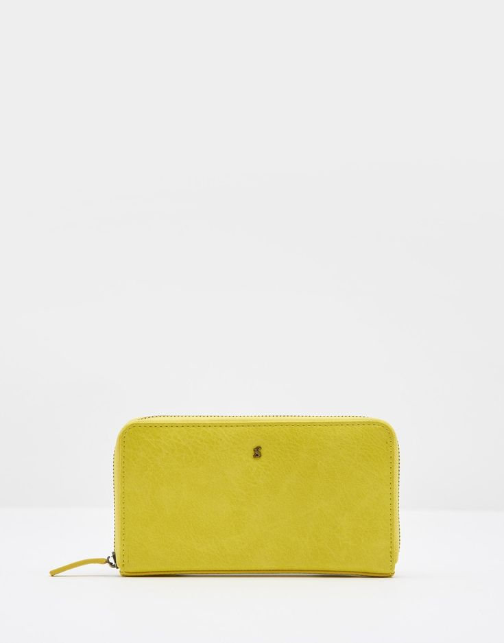 Fairford bright Bright Lime Purse , Size One Size | Joules UK
