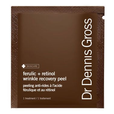 Dr. Dennis Gross A daily skin smoothing and re-texturising peel enriched with ferulic acid and a hard-working dose of retinol. Skin is left smooth, firm and radiant.