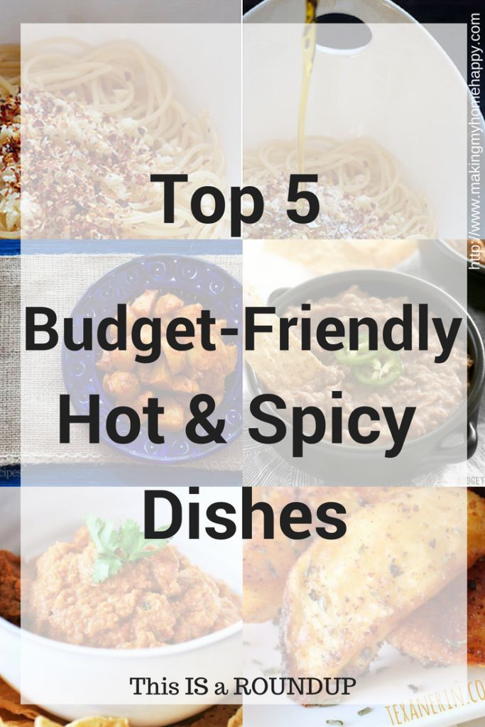 I love spicy food (my husband not so much), but for Hot & Spicy Day...Well, I just had to share my Top 5 Budget-Friendly Hot & Spicy Dishes.