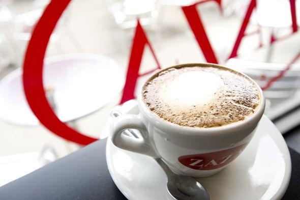 Frothy cappuccino at Zaza Espresso Bar in Bloor West Village