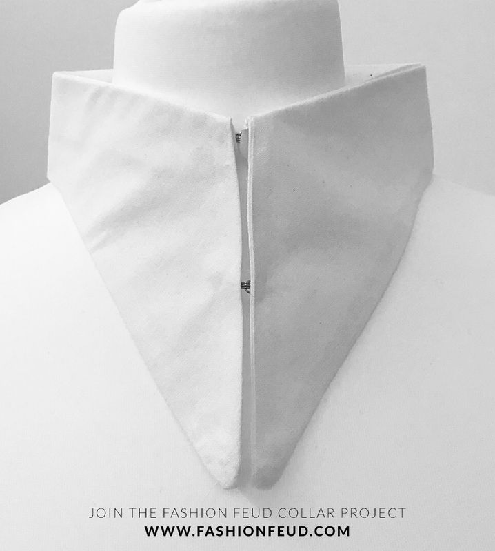 Graphic Minimal Collar Design - sewing; symmetry; white shirt; pattern cutting // Fashion Feud