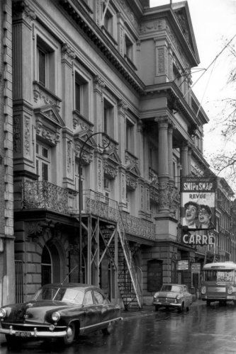 1950's. Entrance of Theater Carre in Amsterdam, Photo J. van Rhijn fotograaf. #amsterdam #1950