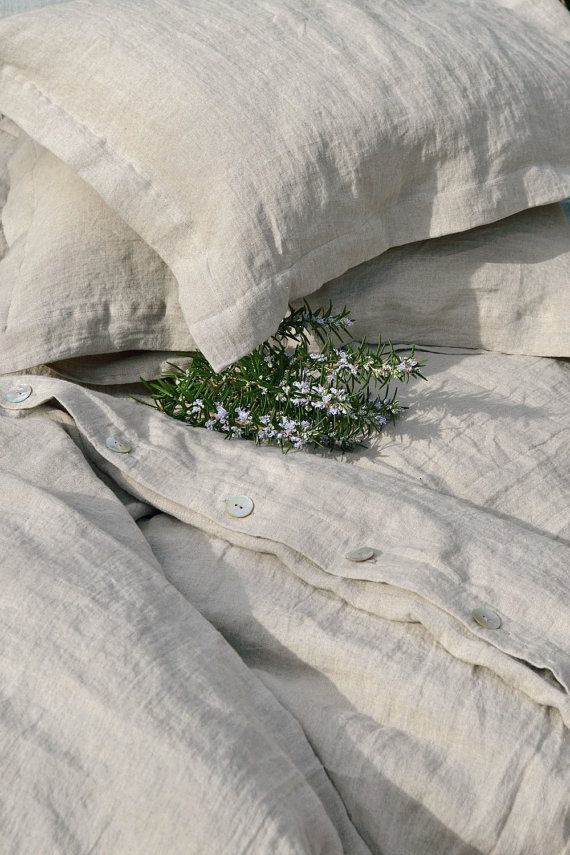 "Natural softened linen pillow case ""Pure Elegance"", Natural colour on Etsy, $28.66"