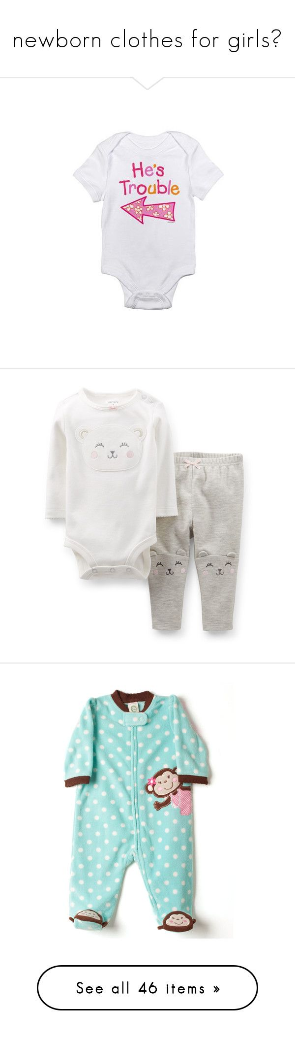 """""""newborn clothes for girls🐻"""" by b-abygirlll ❤ liked on Polyvore featuring baby, baby clothes, baby stuff, baby girl, kids, baby girl clothes, hazel, accessories, hair accessories and headbands & turbans"""