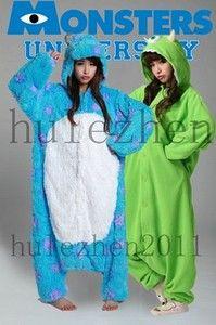 KIGURUMI Monsters University Mike Wazowski Costume Pajamas Pyjamas Alien Cosplay | eBay