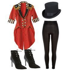 Ring Leader – Skin-tight pants with high waist, lace-up boots and fitted jacket
