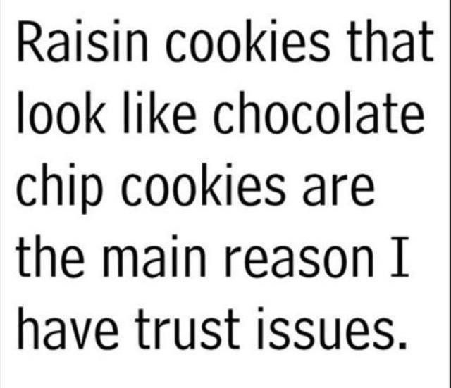 Pin By Kay Rabenstein On My Favorite Quotes Raisin Cookies Memes Quotes Trust Issues
