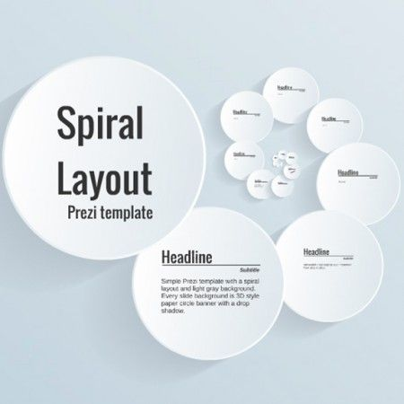 Spiral layout prezi template prezi templates pinterest for Powerpoint templates like prezi