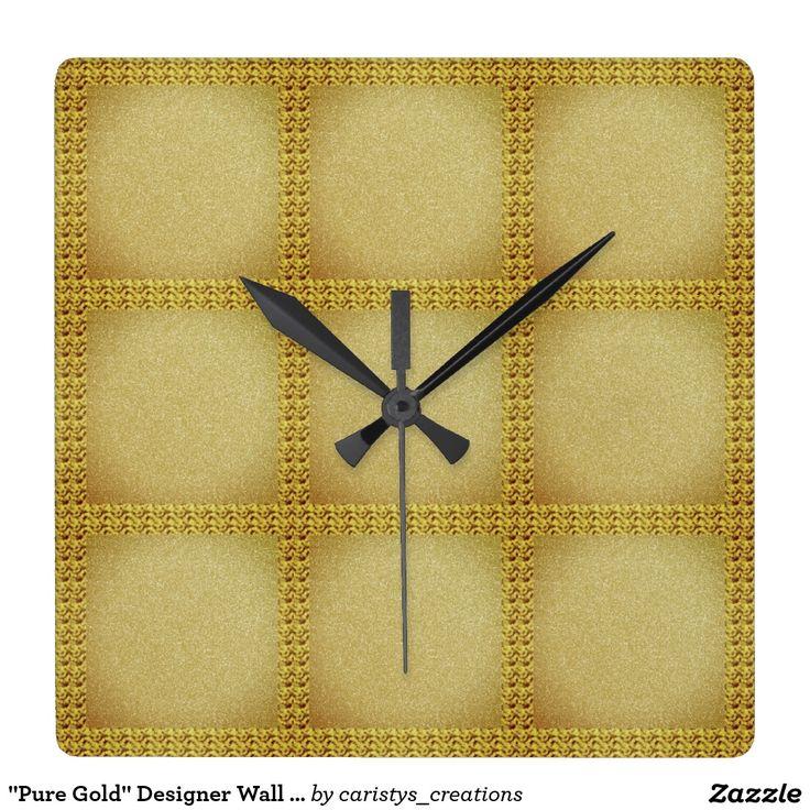 """Pure Gold"" Designer Wall Clock"