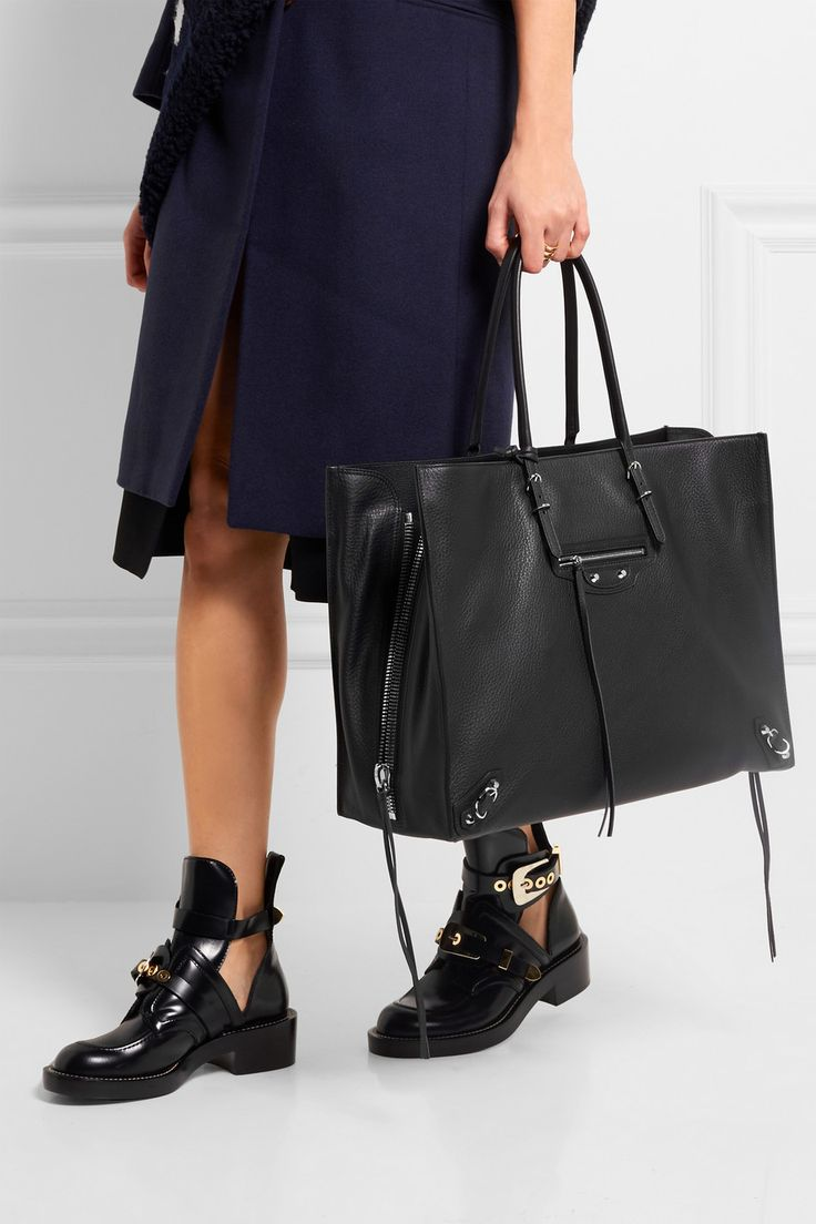 Balenciaga | Papier A4 Zip Around textured-leather tote | NET-A-PORTER.COM