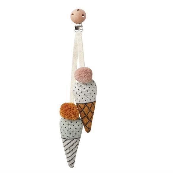 Liewood – Rosa Kinderwagenspielzeug – Eiscreme   – Baby