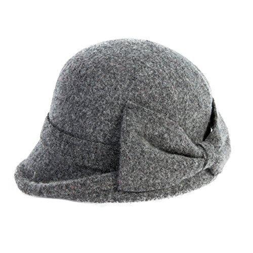 52d87832837 Siggi Womens Vintage Wool Felt Cloche Bucket Bowler Hat Winter ...
