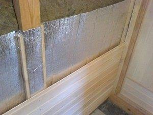 отделка стен бани