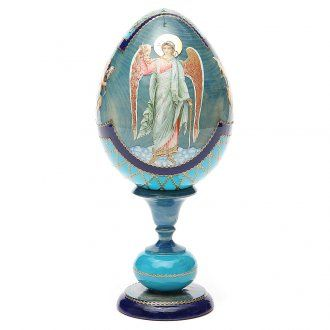 Russian Egg Angel découpage, Fabergè style 20cm | online sales on HOLYART.co.uk