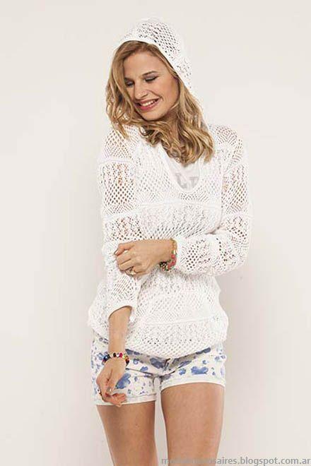 Sweaters tejidos de hilo moda verano 2015. Doll Fins look de moda 2015.
