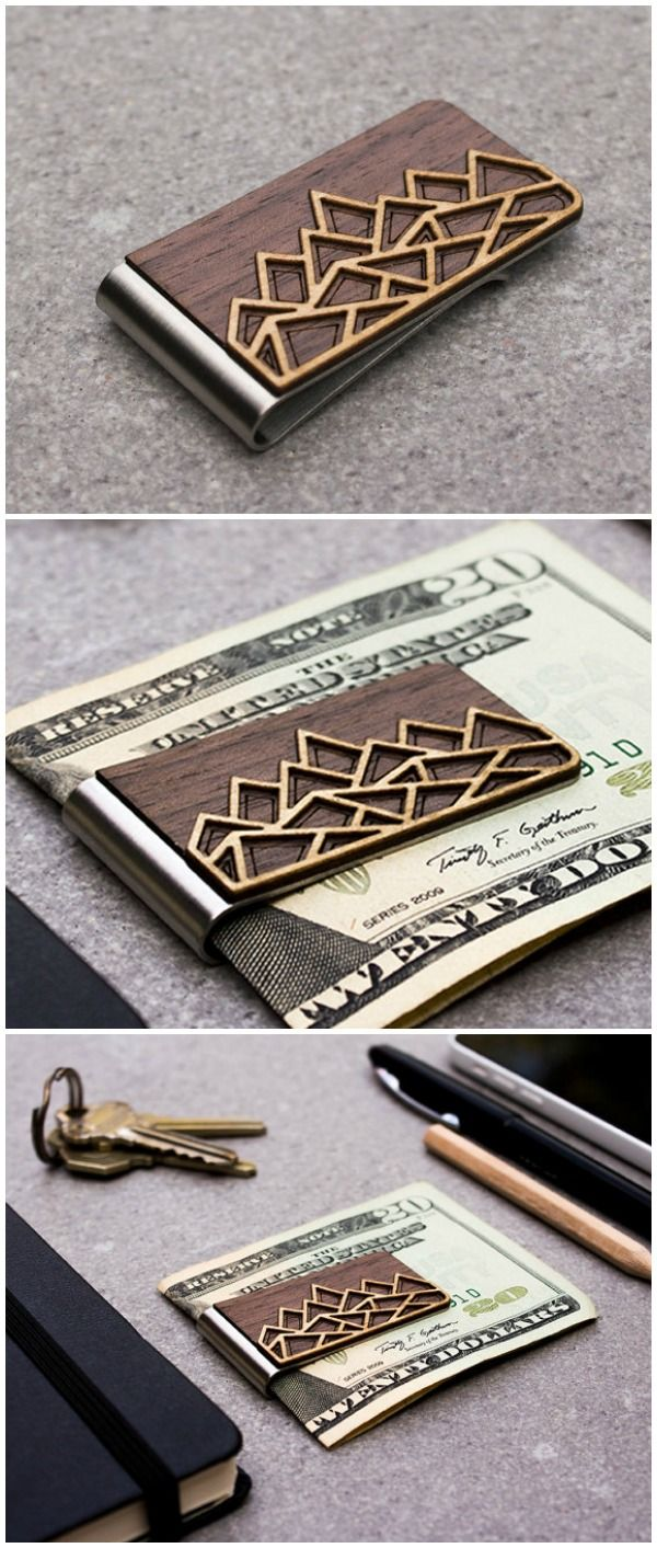 money clip, wood wallet, minimalist wallet, card holder, credit card holder, slim wallet, wooden money clip, graduation gift, boyfriend gift