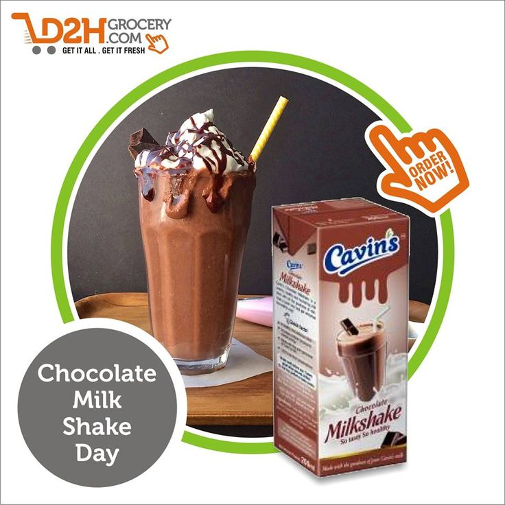 There is nothing that chocolate can't fix! Happy Chocolate Milkshake Day!! #Choclate #OnlineShoping