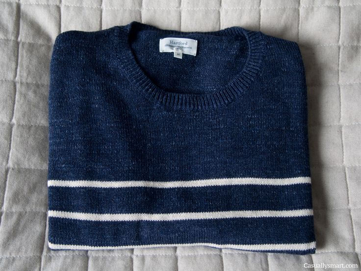 Navy Cotton striped sweater from hartford paris