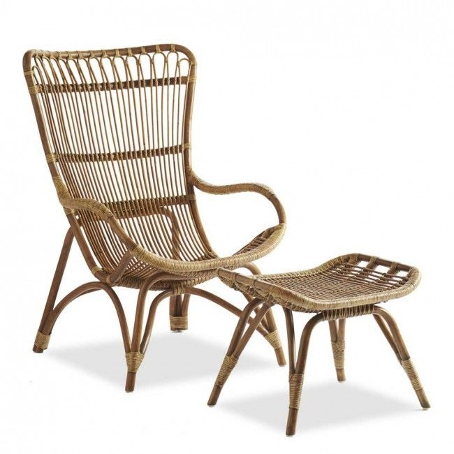 Made of tightly woven sustainable rattan, a Settle In Lounger and Ottoman are $558 and $158 respectively from Viva Terra.