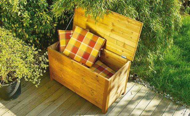 die besten 25 auflagenbox holz ideen auf pinterest auflagenbox garten auflagenbox und truhe. Black Bedroom Furniture Sets. Home Design Ideas