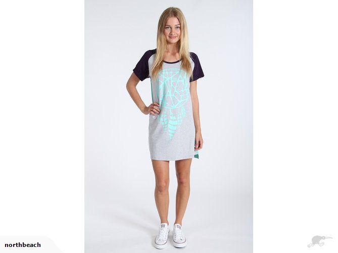 ilabb Delirium Dress Grey Marle/Teal, Size 10 | Trade Me
