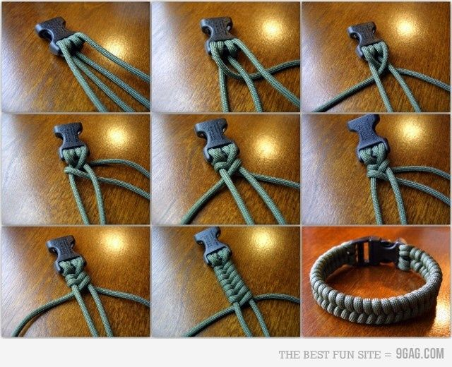 DIY bracelet, with different threading
