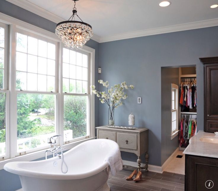 Benjamin moore water 39 s edge courtney burnett kitchen and for Indoor paints color ideas