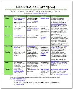 """Another FREE """"Real Food"""" Meal Plan!"""