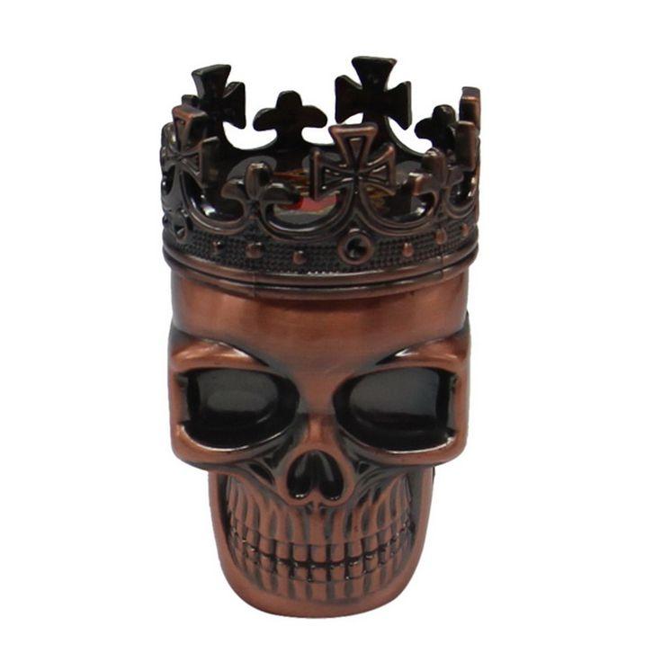 새로운 멋진 왕 해골 담배 허브 그라인더 양념 담배 분쇄기 Crushe 새로운 분쇄기 잡초 도구