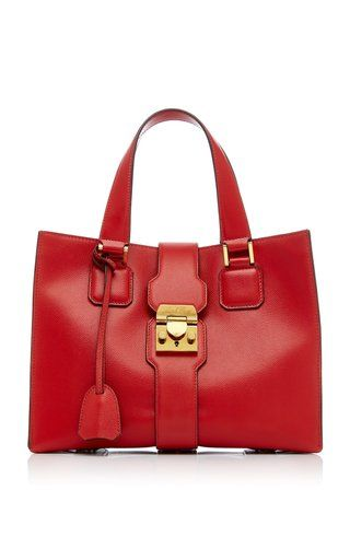 Livingston Caviar Leather Tote By Mark Cross