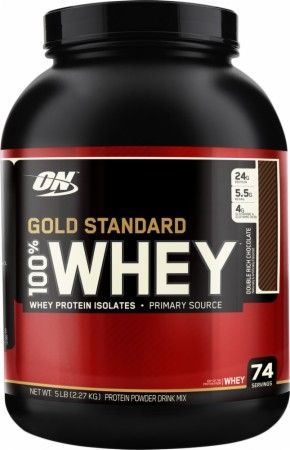 Gold Standard 100% Whey Protein by Optimum Nutrition ...favorite protein powder ever. I have it every single day since I don't eat meat!