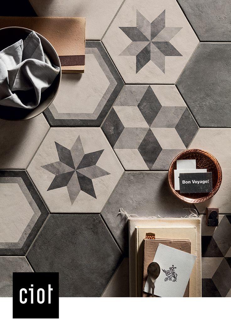 Les 9 meilleures images du tableau terra collection sur for Faience hexagonale