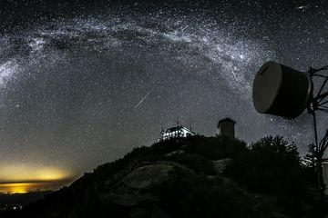 Andromeda and Meteors from Tobias Lookout