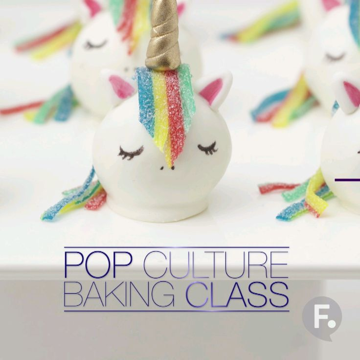 Pop Culture Baking: Unicorn Cake Truffles