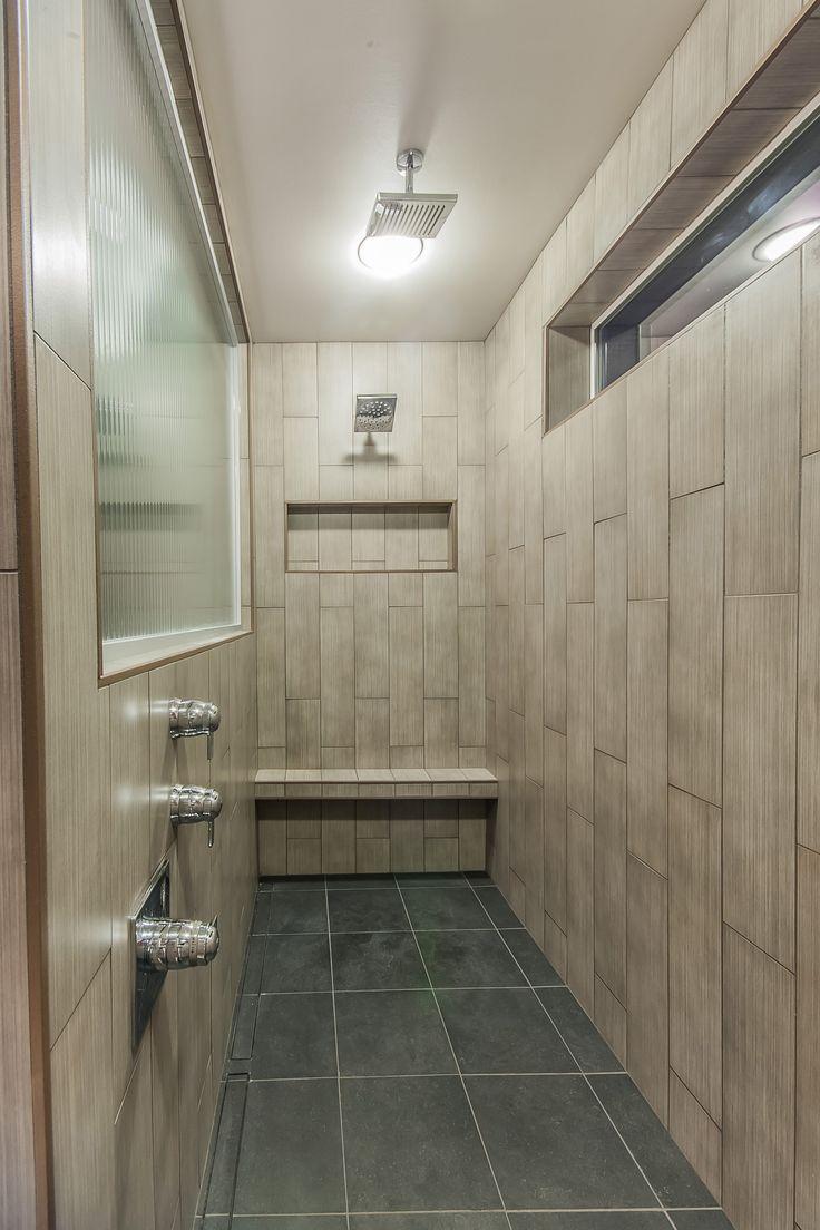 9' Long Shower 6x24 Vertical tile walls, 12x24 Shower Pan ...