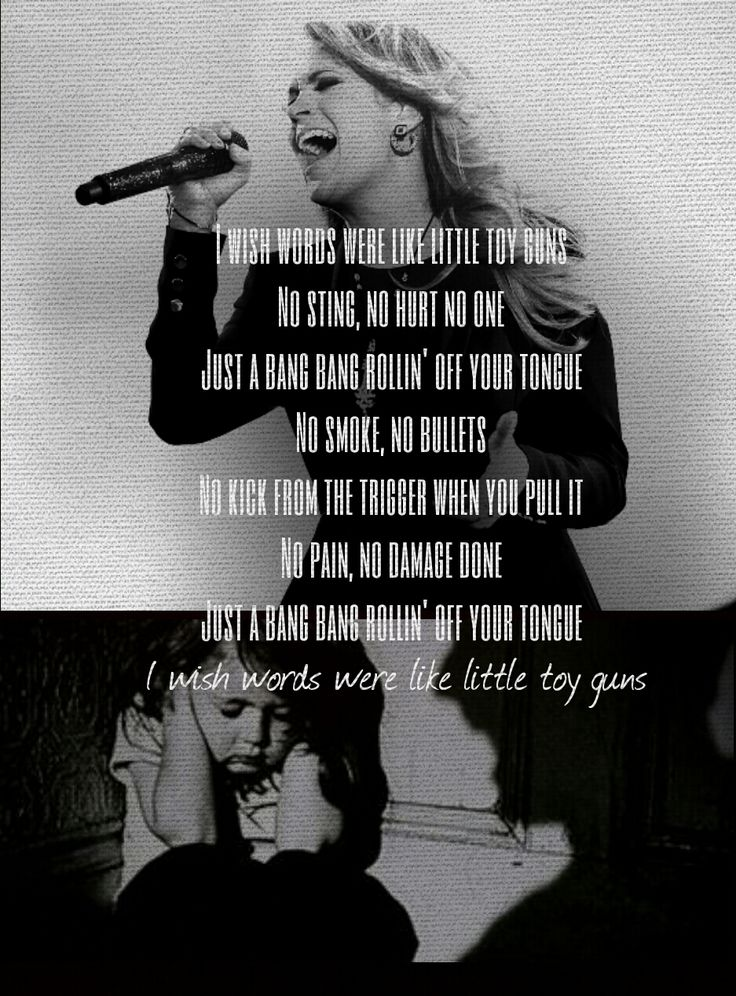 Carrie Underwood - Little toy Guns love it!!