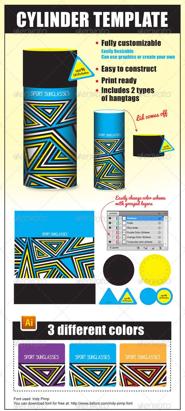 cylinder packaging template - 75 best images about cylinder packaging on pinterest