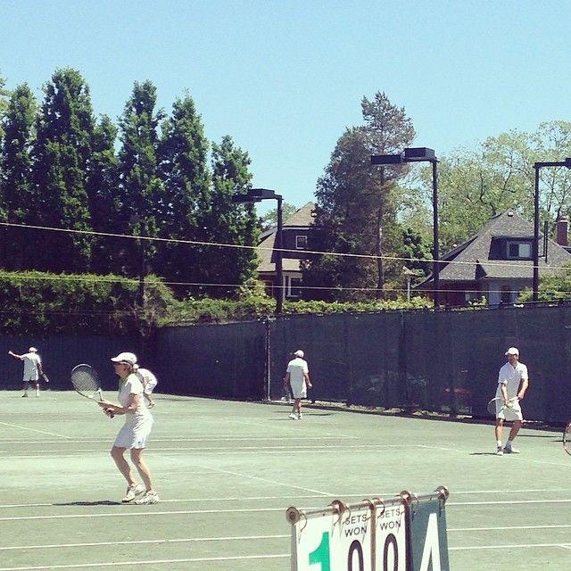 Saturday doubles tournament is full underway! #charity #calcutta #torontolawn