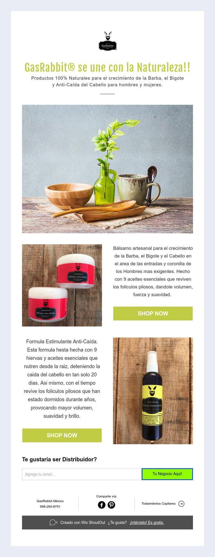 GasRabbit® se une con la Naturaleza!!  Productos 100% Naturales para el crecimiento de la Barba, el Bigote  y Anti-Caída del Cabello para hombres y mujeres.