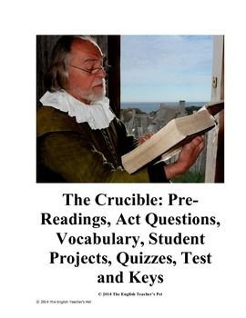 the crucible essay test