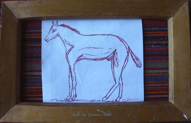 Il Cavallo, schizzo di Giovanni Achilli, Piacenza